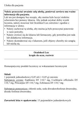 Oculoheel Lux, krople do oczu
