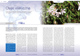 Olejki eteryczne i inne roślinne substancje