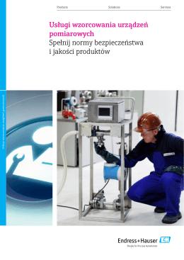 Pobierz broszurę dotycząca wzorcowania urządzeń