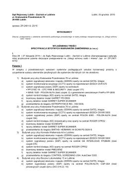 Wyjaśnienia teści s.i.w.z - Sąd Rejonowy Lublin