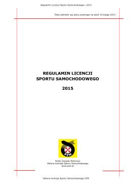 Regulamin Licencji Sportów Samochodowych