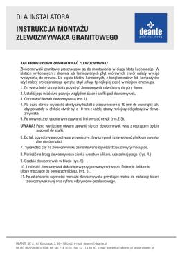 Instrukcja montażu zlewozmywaków granitowych ()