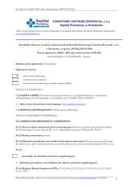ogłoszenie o zamówieniu BZP nr 254962