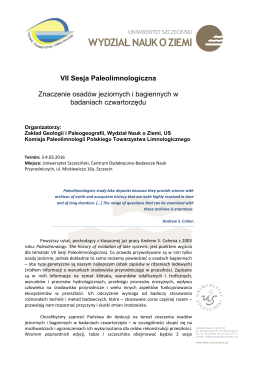 VII Sesja Paleolimnologiczna