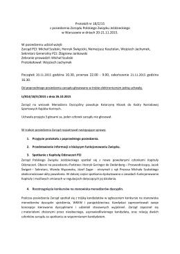 Protokół nr 18/Z/15 z posiedzenia Zarządu Polskiego Związku