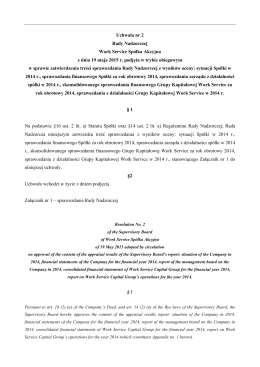 Uchwała nr 2 RN sprawozdania