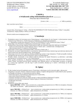 Wzór umowy terminowej z dzierżawą sprzętu