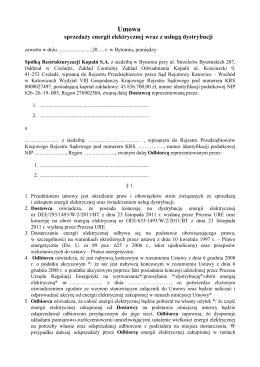 dla odbiorców grup taryfowych B23, B21, C21