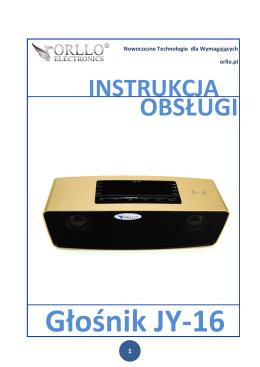 Instrukcja głośnika przenośnego ORLLO JY-16