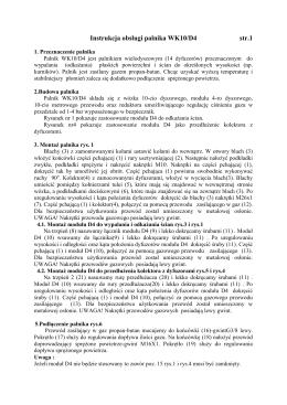 Instrukcja obsługi palnika WK10/D4 str.1