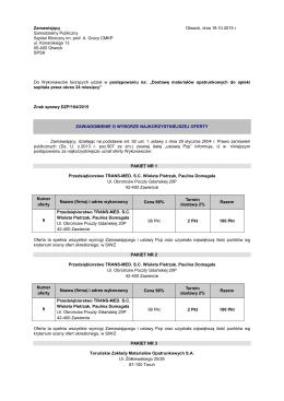 104_2015 wynik postępowania - Samodzielny Publiczny Szpital