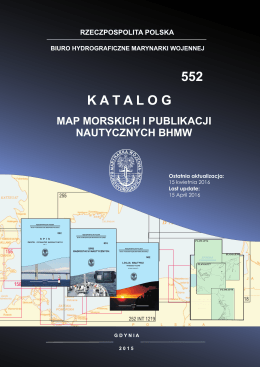 Katalog map morskich - Biuro Hydrograficzne Marynarki Wojennej RP