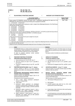 ENR 2.1 - AIS - Polska Agencja Żeglugi Powietrznej