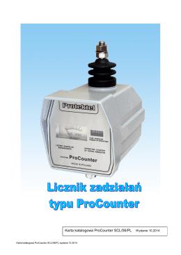Karta katalogowa ProCounter SCL/06/PL Wydanie