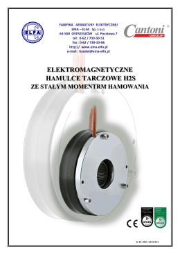 elektromagnetyczne hamulce tarczowe h2s
