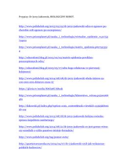 Przypisy: Dr Jerzy Jaskowski, BIOLOGICZNE ROBOTY