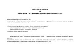 Program Profilaktyczny 2015