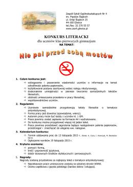 literacki - Zespół Szkół Ogólnokształcących nr 4 w Gliwicach