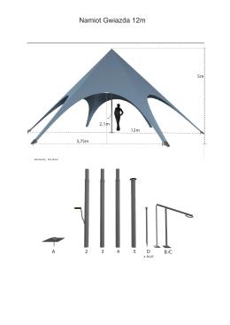 Namiot Gwiazda 12m