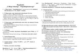 2015-11-07 Regulamin X Biegu Sokolego
