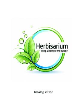 Katalog Herbisarium część 1