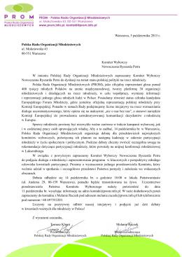- Polska Rada Organizacji Młodzieżowych