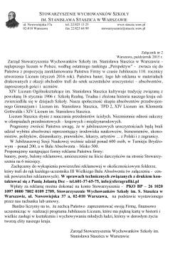 Reklamodawcy/Sponsorzy - XIV LO im. Stanisława Staszica