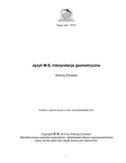 Język M-S, interpretacje geometryczne