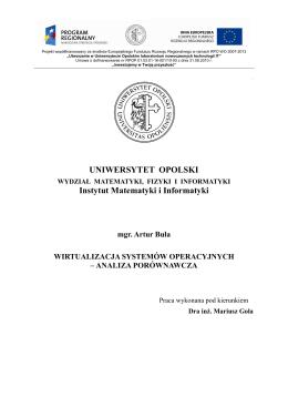 Artur Buła, Wirtualizacja systemów operacyjnych