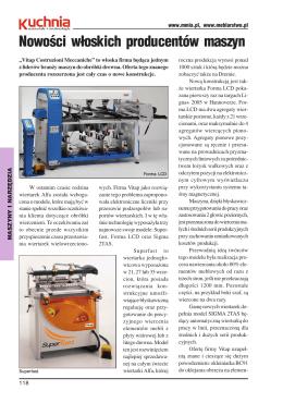 Nowości włoskich producentów maszyn