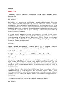 Program: WARSZTATY - baskijski warsztat