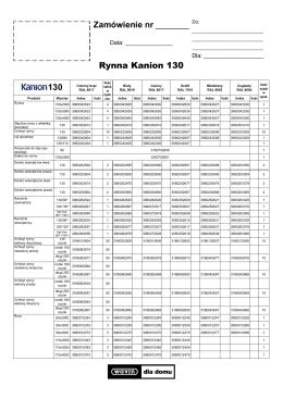 Formularz zamówienia Idealna rynna Kanion 130 (PDF : 316 kB)