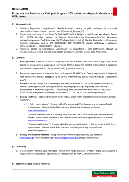 Regulamin promocji. - Blog Banku Zachodniego WBK SA