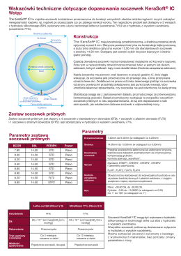 Wskazówki techniczne dotyczące dopasowania soczewek KeraSoft IC