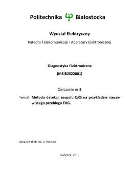 Ćw. 5 - Metoda detekcji zespołu QRS na