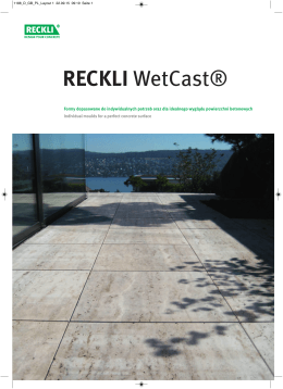 RECKLI WetCast®