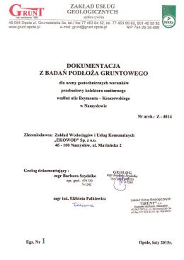 Dokumentacja geotechniczna - tekstpdf