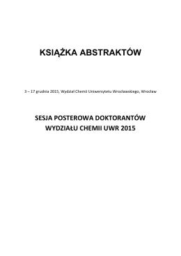 książka abstraktów - Wydział Chemii Uniwersytetu Wrocławskiego