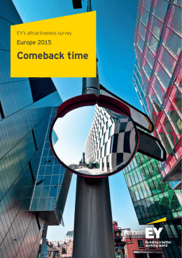 Comeback time - European Investment Monitor
