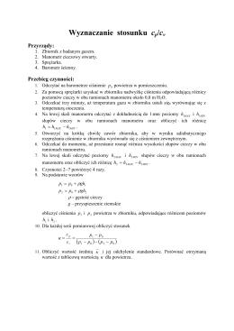Wyznaczanie stosunku cp/cv