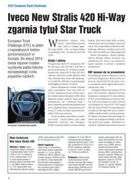 Iveco New Stralis 420 Hi-Way zgarnia tytuł Star Truck