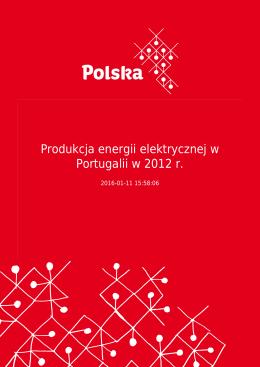 Produkcja energii elektrycznej w Portugalii w 2012 r.