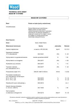 PIANKA MELAMINOWA hydro_MAAD MF 10 HYDRO.2015