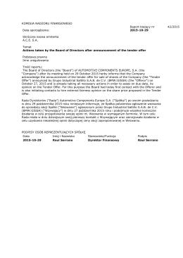Raport biezacy 42/2015