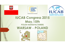 IUCAB Congress 2015 May,15th WARSAW