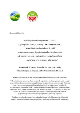 Zaproszenie PDF - Koalicja Klimatyczna