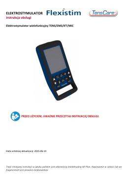 Instrukcja obsługi elektrostymulatora FlexiStim