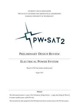 Preliminary Design Review - PW-Sat2