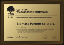 Biomasa Partner Sp. z o.o.