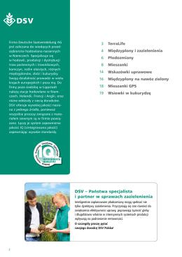DSV – Państwa specjalista i partner w sprawach zazielenienia